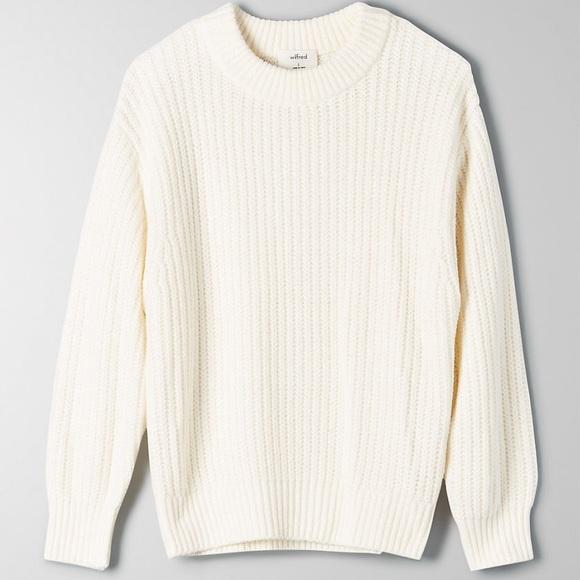 Aritzia Wilfred Essential Chenille Knit Sweater